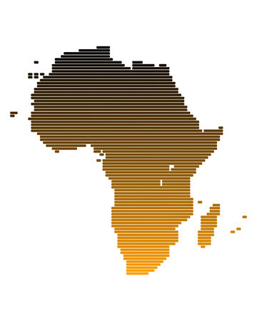 broad: Map of Africa in broad lines with brown gradient