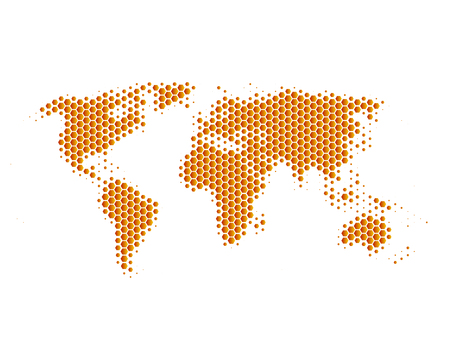 dotted world map: World map