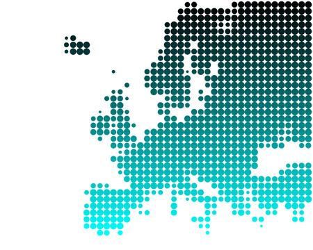 Map of Europe Illustration