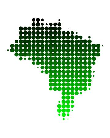brasil: Map of Brazil Illustration