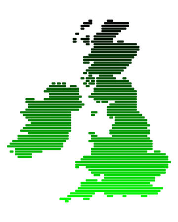 eire: Map of the British Isles