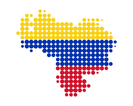 bandera de venezuela: Mapa de Venezuela