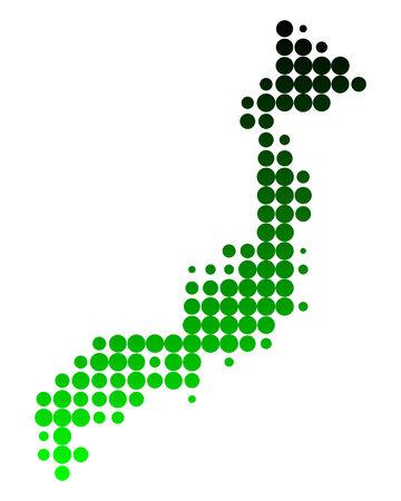 nippon: Map of Japan Illustration