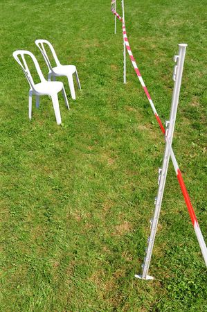 Barrier line, please have a seat and wait Stock Photo - 5496702