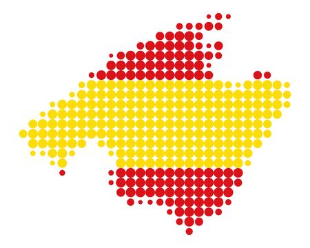 majorca: Map of Majorca Illustration