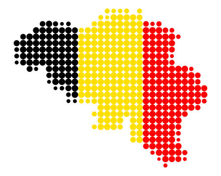 Map and flag of Belgium Stock Vector - 5594292