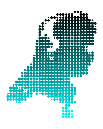 Map of the Netherlands Stock Vector - 5594295