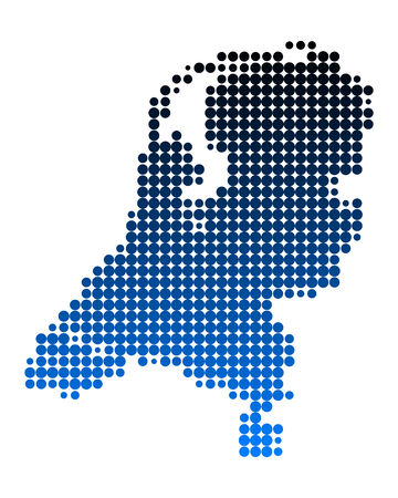 Map of the Netherlands Stock Vector - 5669659