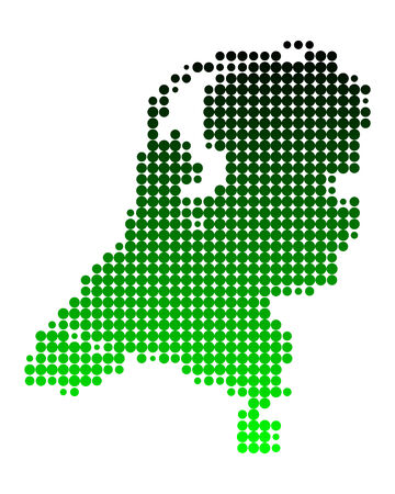 Map of the Netherlands Stock Vector - 5719845