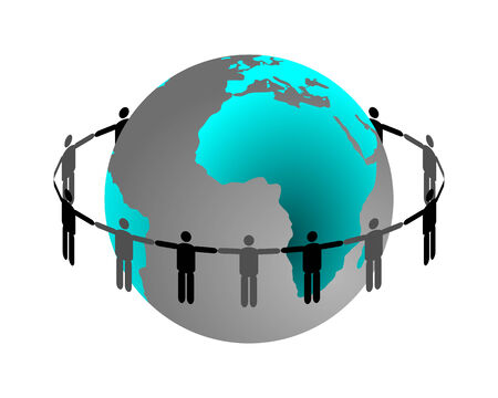 Global connection Stock Vector - 5744406