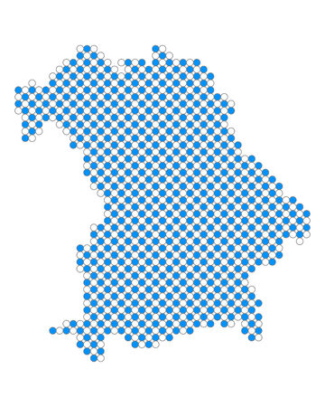 Map of Bavaria Vector