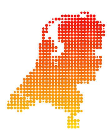 niederlande: Karte von den Niederlanden  Illustration