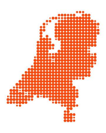 Overzicht van Nederland Vector Illustratie