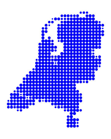 Map of the Netherlands Stock Vector - 6117905