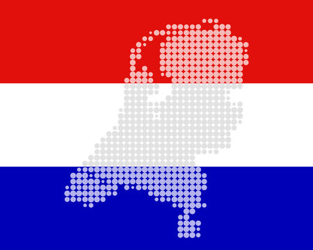 Map and flag of the Netherlands Stock Vector - 6236319