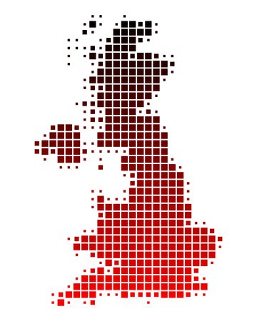isles: Map of Great Britain Stock Photo