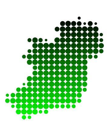 Map of Ireland Stock Photo - 6709013