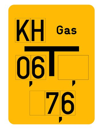 gas pipe: Gas pipe sign