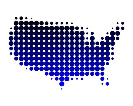 Map of USA Stock Photo - 6917540