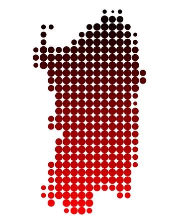 sardaigne: Carte de Sardaigne