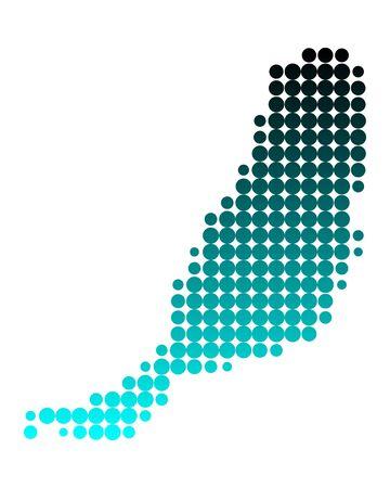 Map of Fuerteventura Stock Vector - 7248133