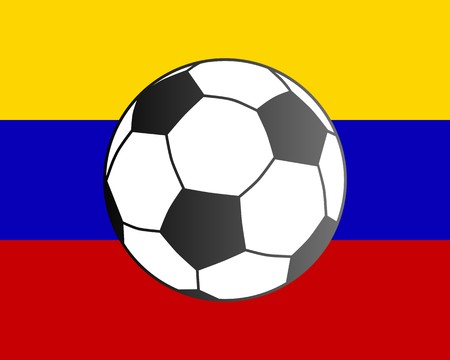 Flag of Venezuela and soccer ball Vector
