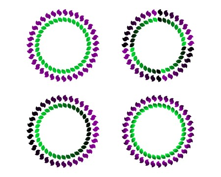 green swirl: Coloured circles