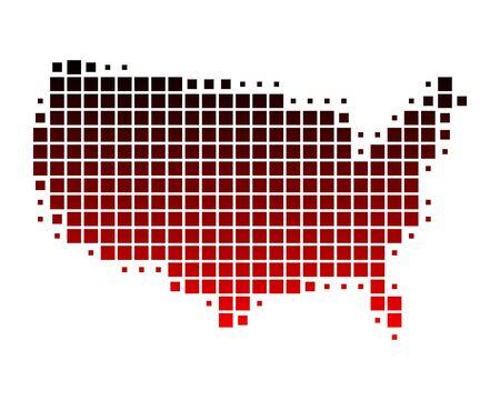 Kaart van Verenigde Staten van Amerika