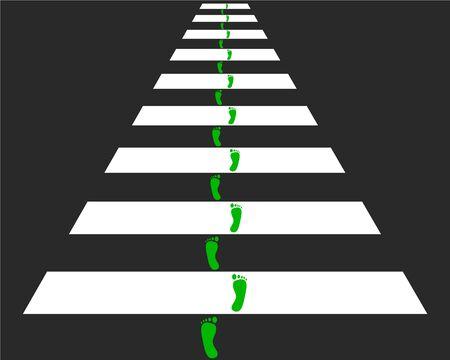 passage pi�ton: Traverser � pied  Illustration