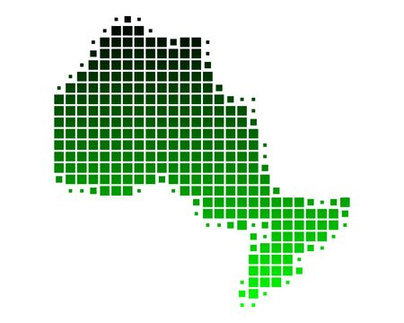 ontario: Mappa di Ontario