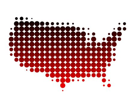 Map of USA Stock Vector - 7339474