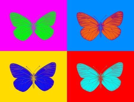 Alien butterfly Stock Photo