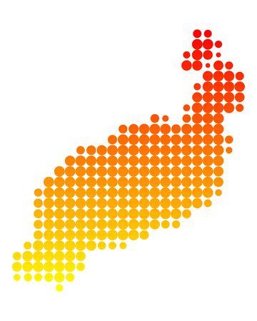lanzarote: Kaart van Lanzarote