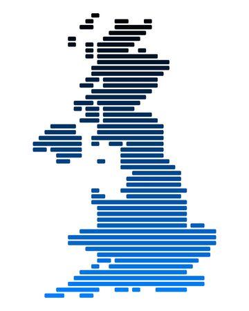 great britain: Carte de la Grande Bretagne