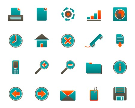 Web icons Stock Vector - 7421336