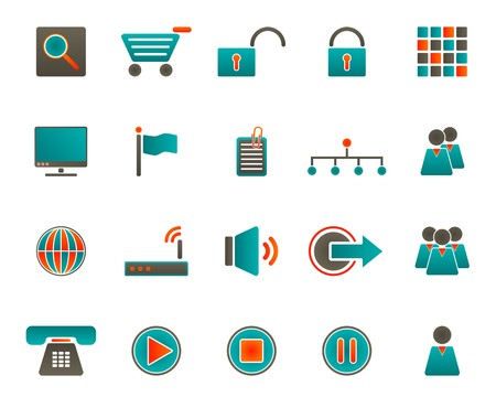 Web icons Stock Vector - 7439950