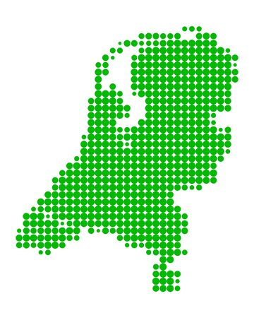Map of the Netherlands Stock Vector - 7540822