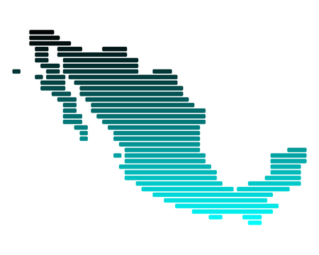 Map of Mexico Stock Vector - 8377868