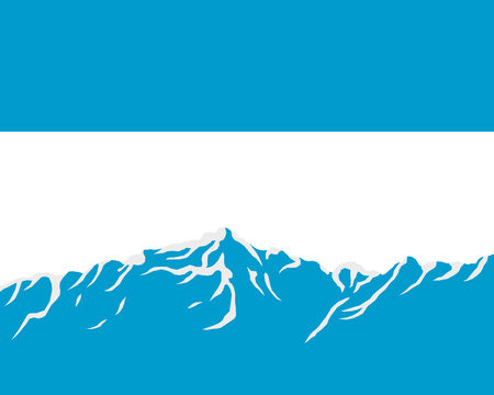 argentina: Mountains with flag of Argentina