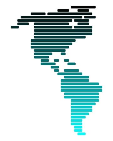 central: Kaart van Amerika