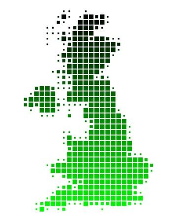 irland: Karte von Gro�britannien