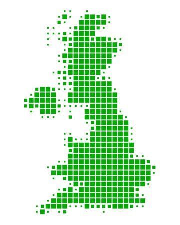 Briten: Karte von Gro�britannien