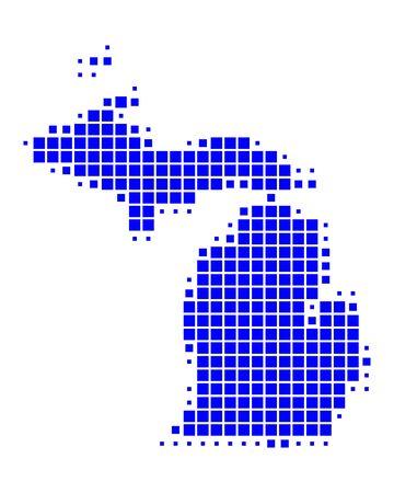Map of Michigan Stock Vector - 8555745