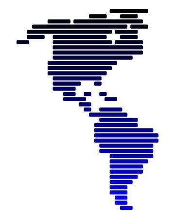 Mapa de América Ilustración de vector