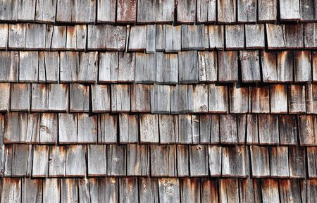 Wooden shingles photo