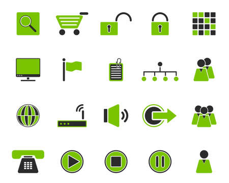 Web icons Stock Vector - 8775413