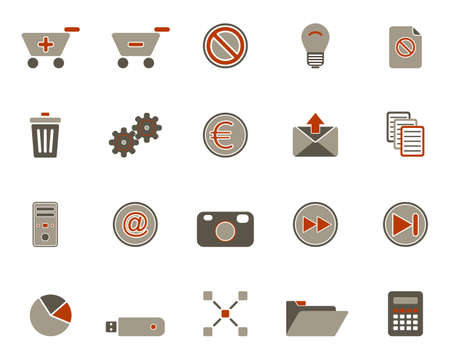 Web icons Stock Vector - 8886847