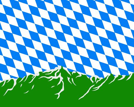 Mountains with flag of Bavaria Stock Vector - 8880843