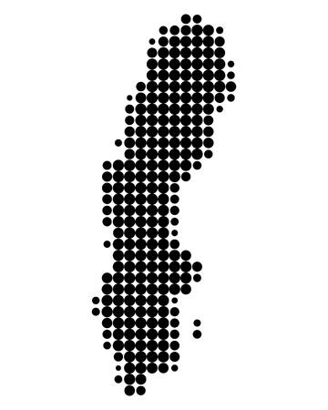 map of sweden: Map of Sweden Illustration