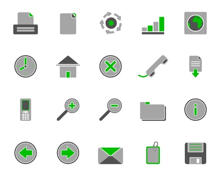Web icons Stock Vector - 8923617